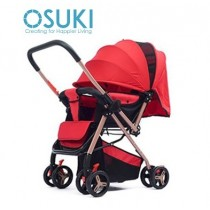 OSUKI Foldable Baby Stroller (Front/Back Facing)- Bright Red
